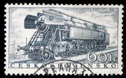 Stamp printed in Czechoslovakia showing the `Rady 477.0` Locomotive Stock Photo