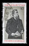 Stamp printed in GDR shows Friedrich Engels. A stamp printed in GDR shows Friedrich Engels, Social Scientist, Political Theorist and Marxist, circa 1970 Royalty Free Stock Image