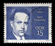 Stamp printed in GDR shows Kurt Tucholsky. A stamp printed in GDR shows Kurt Tucholsky 1890-1935, journalist, satirist and writer, circa 1970 Stock Photo