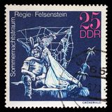 Stamp printed in GDR shows Midsummer Marriage, Staged by Walter Felsenstein, Great Theatrical Production. A stamp printed in GDR shows Midsummer Marriage, Staged royalty free stock images