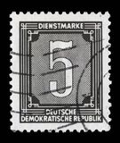 Stamp printed in GDR shows numeric value. A stamp printed in GDR shows numeric value, circa 1956 royalty free stock images