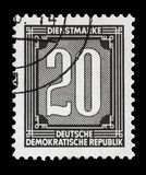 Stamp printed in GDR shows numeric value. A stamp printed in GDR shows numeric value, circa 1956 royalty free stock image