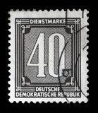 Stamp printed in GDR shows numeric value. A stamp printed in GDR shows numeric value, circa 1956 royalty free stock photos