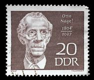 Stamp printed in GDR shows Otto Nagel. A stamp printed in GDR shows Otto Nagel 1894-1967, painter, circa 1970 stock images