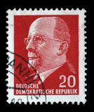 Stamp printed in German Democratic Republic - East Germany shows Chairman Walter Ulbricht Stock Photo
