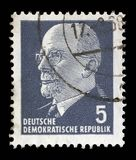 Stamp printed in German Democratic Republic - East Germany shows Chairman Walter Ulbricht Royalty Free Stock Photos