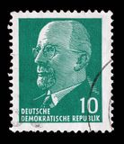 Stamp printed in German Democratic Republic - East Germany shows Chairman Walter Ulbricht Royalty Free Stock Photo
