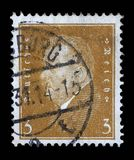Stamp printed in the German Reich shows Friedrich Ebert Royalty Free Stock Photo