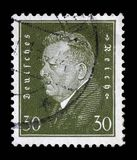 Stamp printed in the German Reich shows Friedrich Ebert Royalty Free Stock Photos