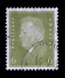 Stamp printed in the German Reich shows Friedrich Ebert. A stamp printed in the German Reich shows Friedrich Ebert 1871-1925, 1st President of the German Reich Stock Photos