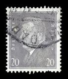 Stamp printed in the German Reich shows Friedrich Ebert Stock Image