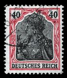 Stamp printed in Germany shows Germania Allegory, Personification of Germany Royalty Free Stock Photo
