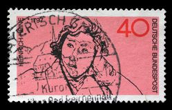 Stamp printed in the Germany shows Heinrich Heine Stock Image