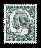 Stamp printed in Germany shows image of Johann Christoph Friedrich von Schiller Stock Photos