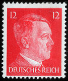 Stamp printed in Germany shows image with portrait of Adolf Hitler Stock Photo