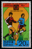 Stamp printed in Korea showing Football world championship in Switzerland. A stamp printed in Korea showing Football world championship in Switzerland, circa royalty free stock images