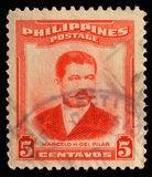 Stamp printed in Philippines shows Marcelo H.Del Pilar Stock Photography