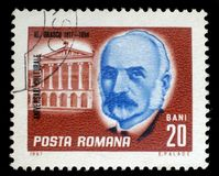 Stamp printed in Romania shows Alexandru Hristea Orascu. A stamp printed in Romania shows Alexandru Hristea Orascu 1817 – 1894 Romanian architect, circa 1967 Stock Images