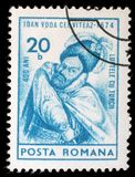 Stamp printed in Romania shows Ioan, Prince of Wallachia Royalty Free Stock Photography