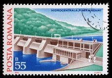 Stamp printed in Romania shows Piatra Neamt, Hydrotechnic Stations. And Dams issue, circa 1978 royalty free stock photo