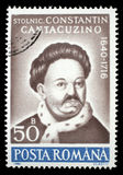 Stamp printed in Romania, shows portrait of Constantin Cantacuzino Royalty Free Stock Photography