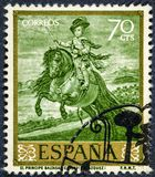 Stamp printed by Spain shows picture Prince Balthazar Charles  by Velazquez. SPAIN - CIRCA 1959: stamp printed by Spain shows picture Prince Balthazar Charles Royalty Free Stock Photography