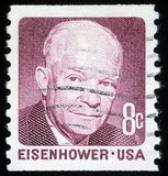 Stamp printed in the United States of America shows Dwight Eisenhower Royalty Free Stock Image