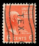 Stamp printed in the United States of America shows John Quincy Adams. A stamp printed in the United States of America shows John Quincy Adams, 6th President of royalty free stock photos