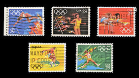 A stamp printed in USA dedicated to Olympic Games Royalty Free Stock Photography