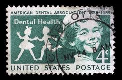 Stamp printed in the USA shows Children, Dental Health Royalty Free Stock Images