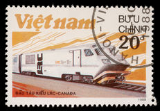 Stamp printed in Vietnam shows locomotive LRS Royalty Free Stock Photo