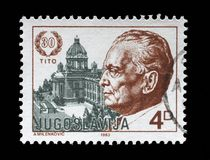 Stamp printed by Yugoslavia dedicated to the 1983 The 30th Anniversary of the Election of President Josip Bro Tito Royalty Free Stock Image