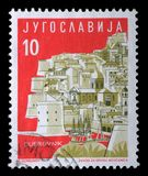 Stamp printed in Yugoslavia from the Local Tourism  issue shows Old City, Dubrovnik, Croatia Royalty Free Stock Image