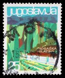 Stamp printed in Yugoslavia from the Local Tourism issue shows Rogaska Slatina, Slovenia Stock Images