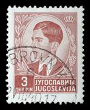 A stamp printed in Yugoslavia shows King Peter II Stock Images