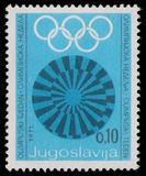 Stamp printed in Yugoslavia shows Olympic week. Circa 1971 Royalty Free Stock Image