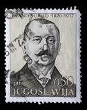 Stamp printed in Yugoslavia shows The 100th Anniversary of the Birth of Frano Supilo Royalty Free Stock Photos