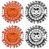Stamp pumpkin Stock Images