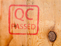 Stamp QC PASSED Royalty Free Stock Photography