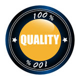 Stamp quality 100% Royalty Free Stock Image