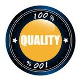 Stamp quality 100%. Illustration Royalty Free Stock Image