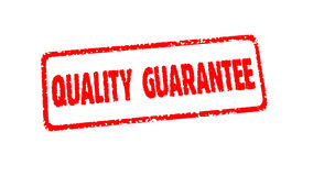Stamp QUALITY GUARANTEE on white, alpha channel.