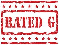 Stamp - Rated G Royalty Free Stock Photos