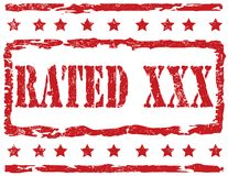 Stamp - Rated XXX Royalty Free Stock Images