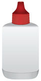 Stamp Refill Ink. Bottle with spare ink for stamp pad. Vector illustration Stock Images