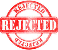 Stamp of Rejected. Red, round Royalty Free Stock Photo