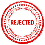 Stamp rejected Royalty Free Stock Image