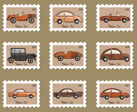 Stamp retro cars collection Royalty Free Stock Photography