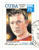 Stamp with Richard Burton. Stamp with actor Richard Burton Royalty Free Stock Images