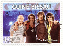 Stamp with Rolling Stones. Stamp with famous group The Rolling Stones Royalty Free Stock Image